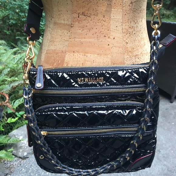 f6335fc6af MZ Wallace Downtown Crosby Crossbody Black Lacquer.  M 5b8d596b5bbb80140d6a67f1